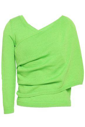 DELPOZO Paneled neon cotton sweater