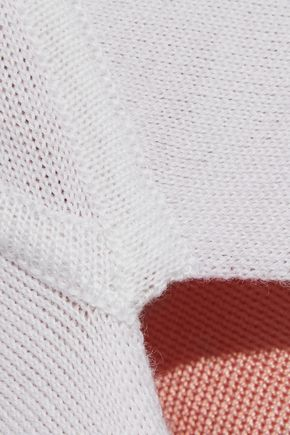ROSETTA GETTY Pinwheel asymmetric knitted sweater