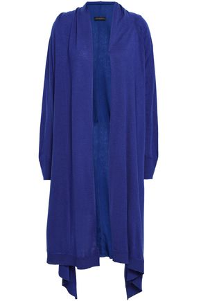 DONNA KARAN Draped knitted cardigan