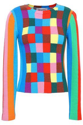 VALENTINO Intarsia-knit cashmere sweater
