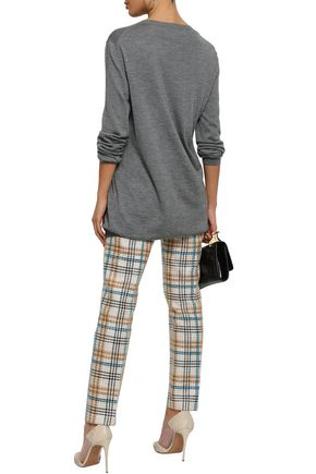 VALENTINO Mélange cashmere and silk-blend sweater