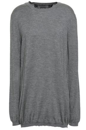 VALENTINO Mélange cashmere and silk-blend sweater