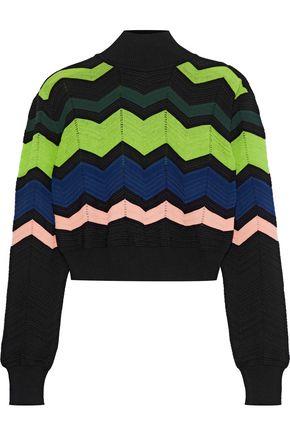 M MISSONI Crochet-knit turtleneck sweater