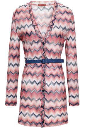 MISSONI Belted crochet-knit cardigan