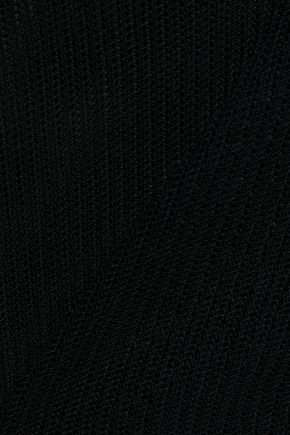 NINA RICCI Crochet-trimmed open-knit top
