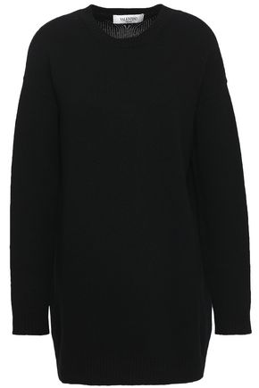 VALENTINO Brushed wool and cashmere-blend sweater