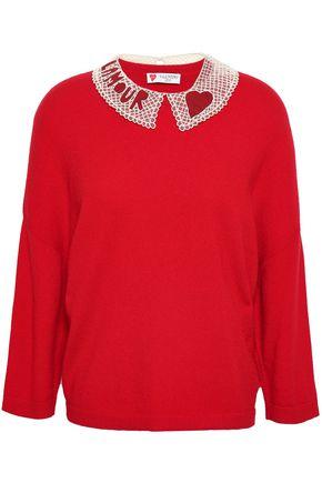 VALENTINO Bead-embellished cashmere sweater