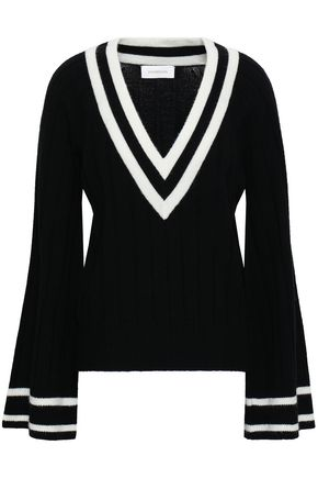 ZIMMERMANN Maples Cricket ribbed wool and cashmere-blend sweater