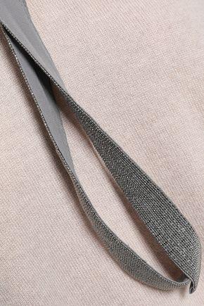 BRUNELLO CUCINELLI Bead-embellished mélange cashmere sweater