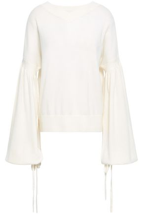 ZIMMERMANN Maples Louch fluted wool and cashmere-blend sweater