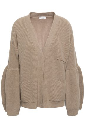 BRUNELLO CUCINELLI Ribbed-knit cashmere cardigan