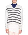 LANVIN Knitwear & Jumpers Man STRIPED V-NECK SWEATER f