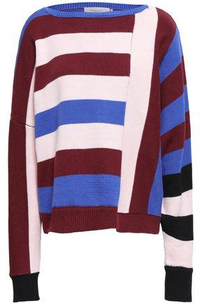 PREEN LINE Daria striped cotton-blend sweater