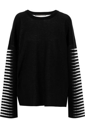 HAIDER ACKERMANN Oversized wool and silk-blend jacquard sweater