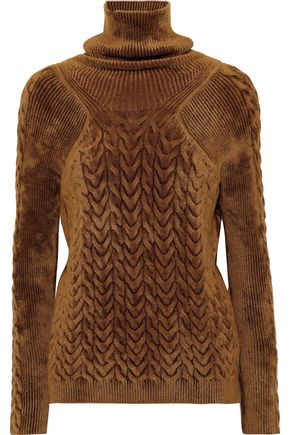 HAIDER ACKERMANN Smocked chenille turtleneck sweater