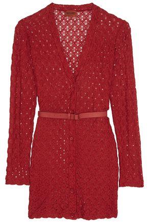 MISSONI Belted crochet-knit cardigan