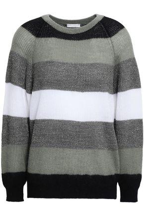 BRUNELLO CUCINELLI Striped ribbed-knit sweater