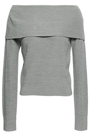 ZIMMERMANN Off-the-shoulder ribbed wool-blend sweater