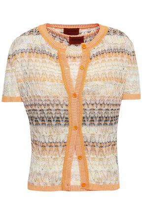 MISSONI Crochet-knit cotton-blend cardigan