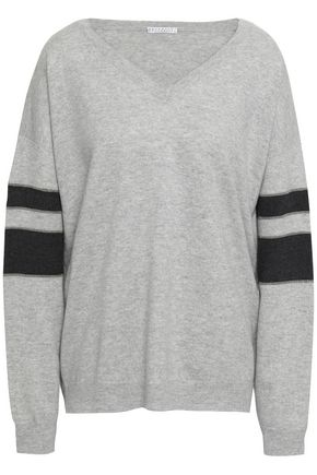 BRUNELLO CUCINELLI Mélange striped cashmere sweater