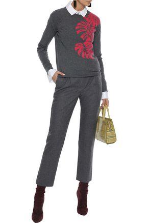 VALENTINO Mélange cashmere-jacquard  sweater