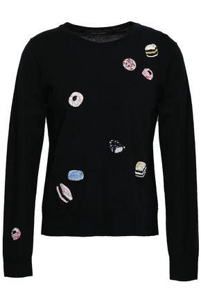 MARC JACOBS Embellished appliquéd wool sweater