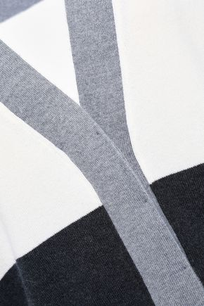 BRUNELLO CUCINELLI Striped wool, cashmere and silk-blend cardigan