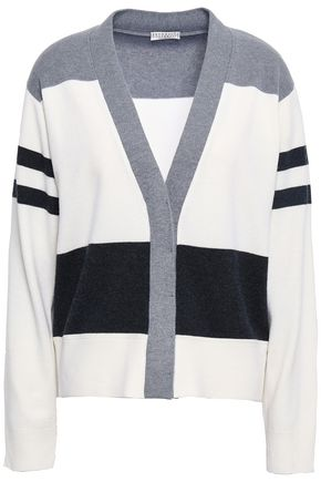 BRUNELLO CUCINELLI Striped wool, cashmere and silk-blend cardigan