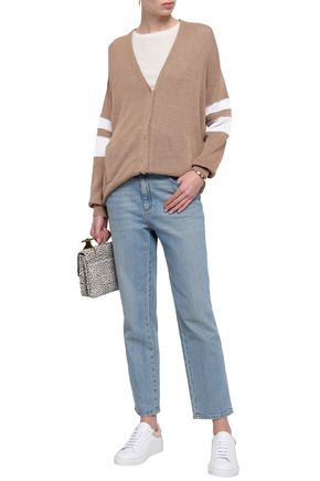 BRUNELLO CUCINELLI Bead-embellished cotton cardigan