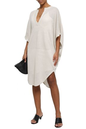 BRUNELLO CUCINELLI Sequined linen and silk-blend dress
