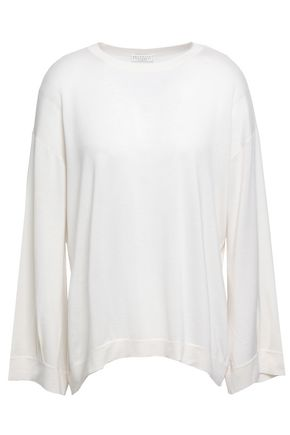 BRUNELLO CUCINELLI Cashmere and silk-blend top