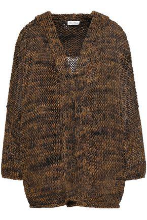 BRUNELLO CUCINELLI Marled metallic open-knit hoodie