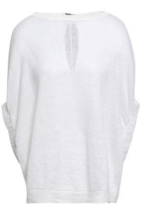BRUNELLO CUCINELLI Linen and silk-blend top