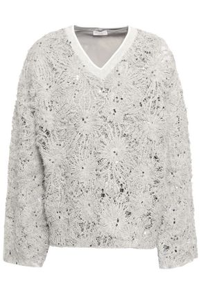 BRUNELLO CUCINELLI Sequined jacquard-knit sweater