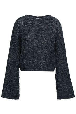 BRUNELLO CUCINELLI Fluted metallic ribbed-knit sweater
