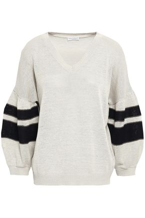 BRUNELLO CUCINELLI Bead-embellished cotton sweater