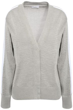 BRUNELLO CUCINELLI Bead-embellished cotton cardigan