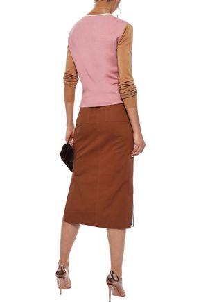 ROKSANDA Elsta color-block stretch-knit turtleneck sweater