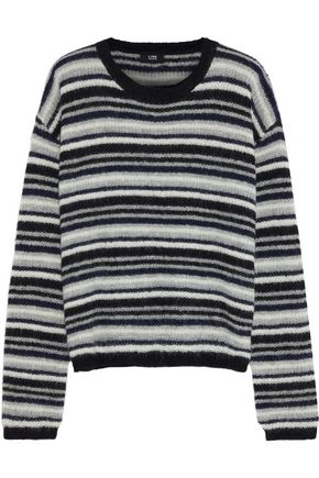 LINE Striped alpaca-blend sweater