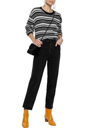 LINE Striped alpaca-blend sweater