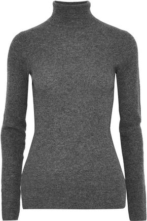 VINCE. Ribbed cashmere turtleneck sweater