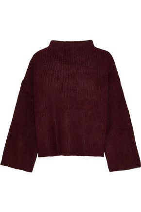 LINE Cropped ribbed-knit sweater