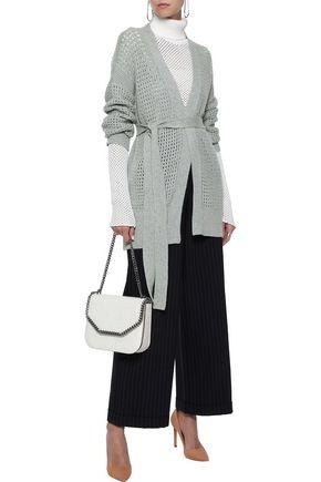 AGNONA Belted open-knit cashmere cardigan