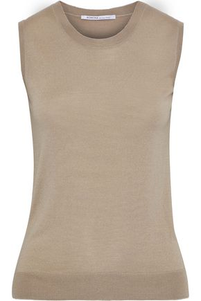 AGNONA Wool, cashmere and silk-blend tank