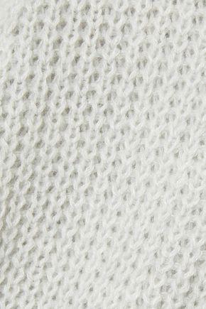 AGNONA Cashmere and linen-blend cardigan