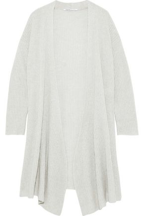 AGNONA Cashmere and linen-blend cardigan
