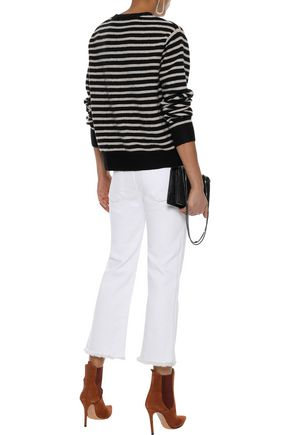 LINE Spencer striped intarsia-knit sweater