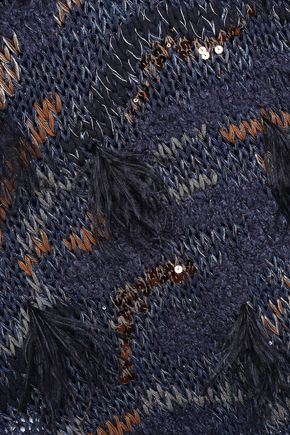 BRUNELLO CUCINELLI Embellished metallic cotton-blend sweater