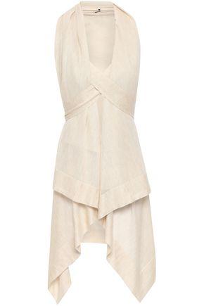 AGNONA Tie-back draped cashmere top
