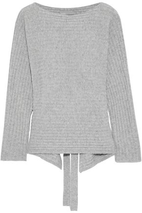 VINCE. Cutout ribbed wool and cashmere-blend sweater
